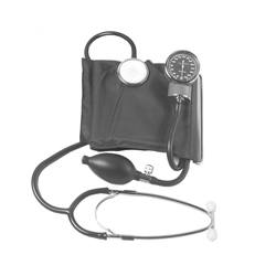BP CUFF WITH STETHOSCOPE DELUXE  IN CASE